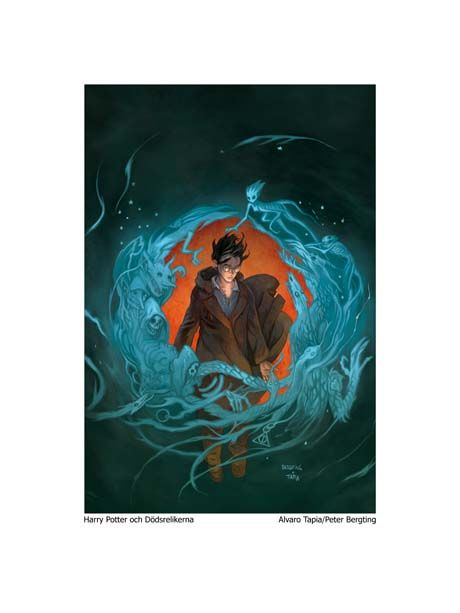 harry potter cover art, from Sweden?
