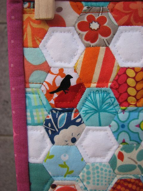 Hexie quilting
