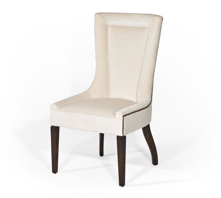 Bradley 39 donnelle 39 dining chair in cream velvet with gold for Dining room head chairs