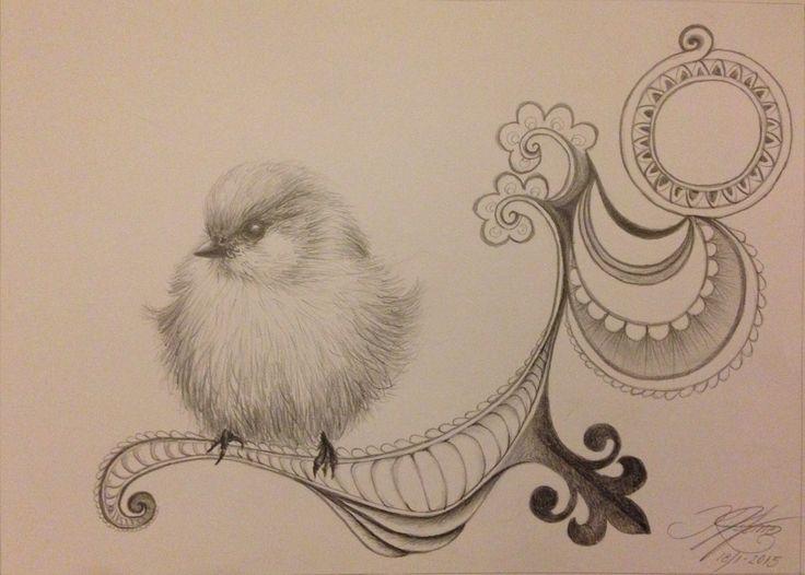 """""""Bye bye birdie""""  drawn by artist Kirstine Wistrup"""