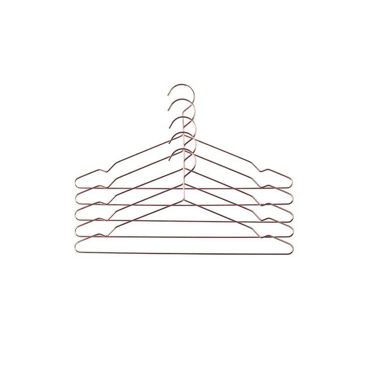 Hay - Hang bøjle i anodiseret aluminium- kommer i et sæt med 5 bøjler - altid fri fragt