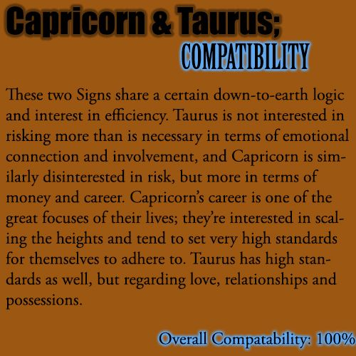 how is taurus and capricorn in a relationship