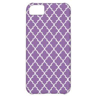 Bellflower Violet Maroccan Trellis - Quatrefoil iPhone 5C Cover