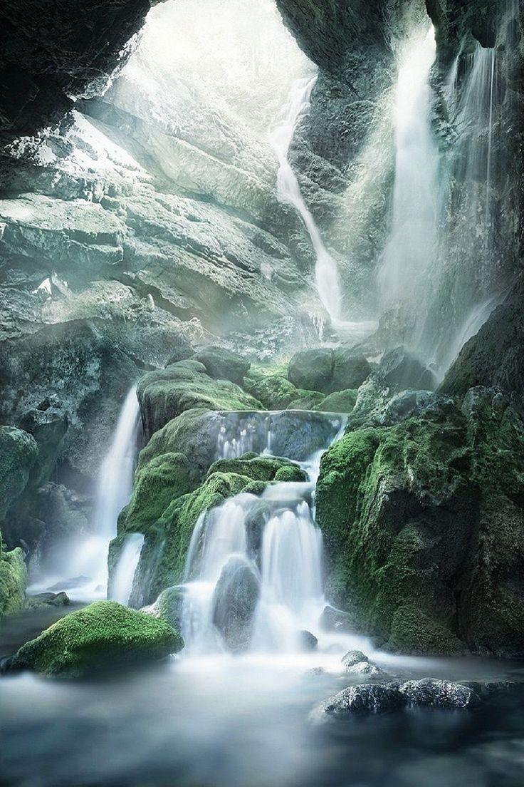 Waterfall in Cindrel, Romania
