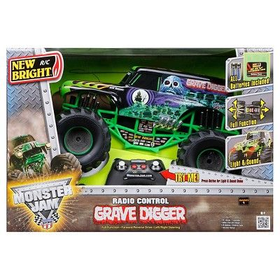 New Bright Rc Full Function 9.6v Monster Grave Digger