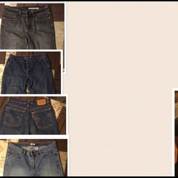 4pair of women's jeans 💥REDUCED💥 DKNY sz8,Levi classic slim stretch sz10,ZENA  Capri sz10,Liz&Co sz10 Variety Jeans Skinny