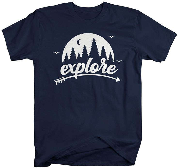 Photo of Men's Explore T Shirt Camping Shirt Wanderlust Tshirt Forest Shirts Moon Shirt Nature Shirts – Products