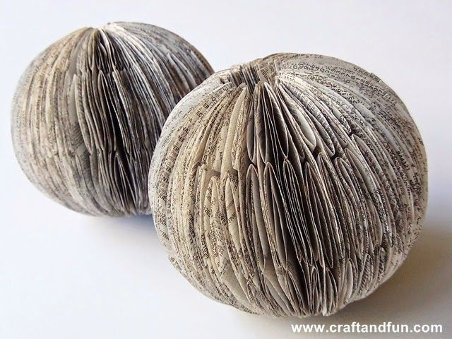 http://www.craftandfun.com/2014/11/riciclo-creativo-elenchi-telefonici-palline-di-Natale-con-la-carta.html