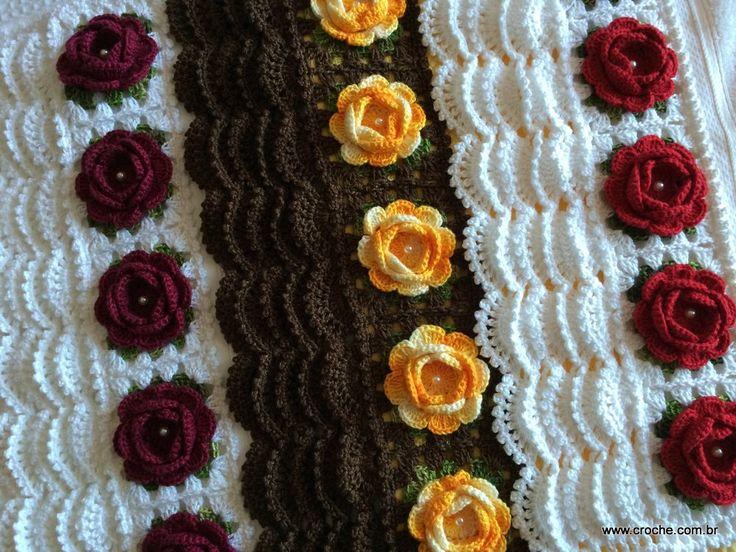 Toalha de rosto | Croche.com.br