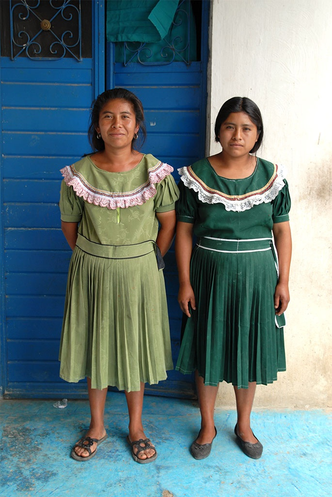 Two Tojolabal Maya Women from the Municipio of Las Margaritas Chiapas, Mexico.