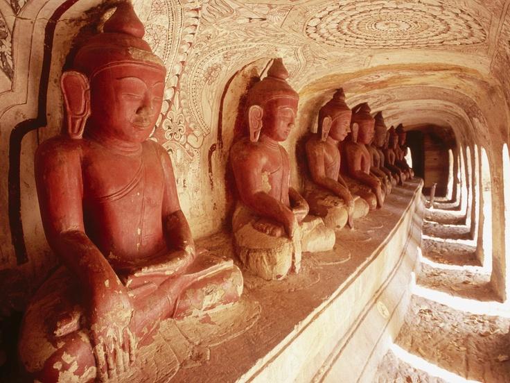 Buddhas, Near Monywa Po Wine Daung Caves, Myanmar