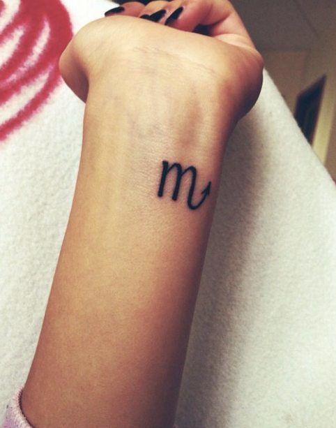 Simple Scorpio Zodiac Sign Tattoo for Girl