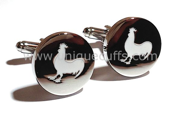 More custom enamel cufflinks we made for a special groomsmen gift.