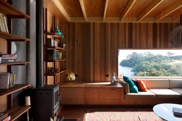 A holiday home by Herbst Architects at Whangarei Heads which is a finalist in the Home of the Year award.