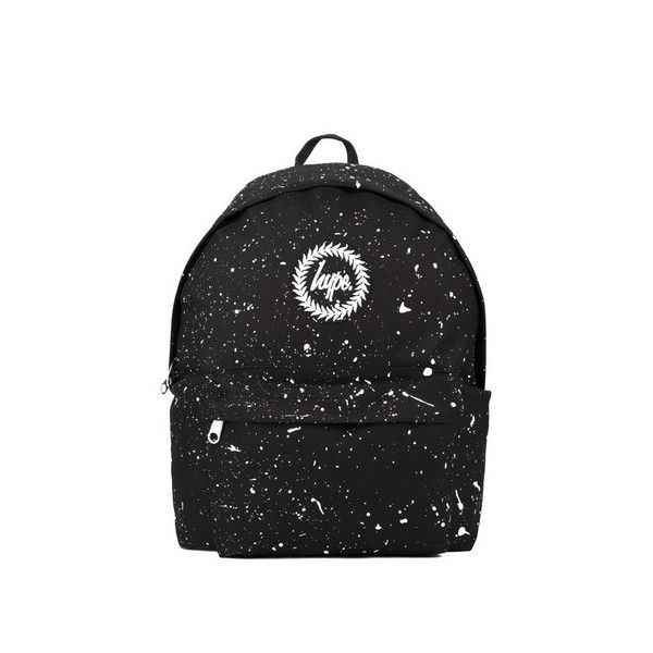 Black and White Speckle Backpack by Hype (£30) ❤ liked on Polyvore featuring bags, backpacks, backpack, black, polyester backpack, knapsack bag, black white bag, black and white bag and rucksack bags