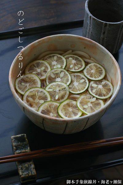 緑が映える丼鉢です!:御本手象嵌線丼・海老ヶ瀬保:和食器・丼 japanese tableware