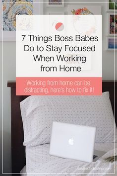 As a creative entrepreneur it's easy to get distracted when you work from home. So turn off those Law and Order: SVU reruns + see our 7 tips for making the most of your workday no matter where you set up shop.