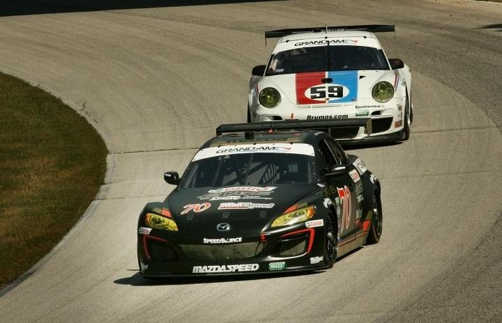 SpeedSource's Mazda RX-8 in the GRAND-AM Road Racing's Rolex Series competition. #Mazda #RX8