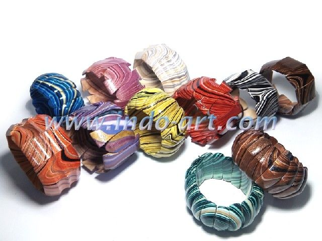 sono wood bracelet painting a rainbow