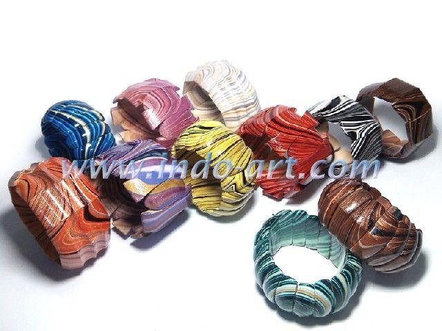 sono wood bracelet painting a rainbow
