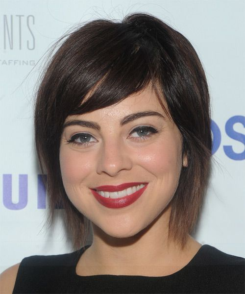 Krysta Rodriguez Hairstyle - Short Straight Casual. Click to try on this hairstyle and view hair info and styling steps!