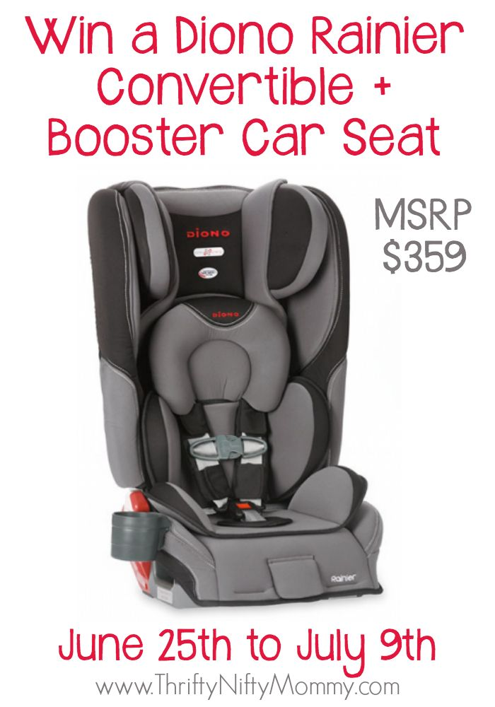 Diono Rainier Convertible + Booster Car Seat Giveaway! (ends 7/9)
