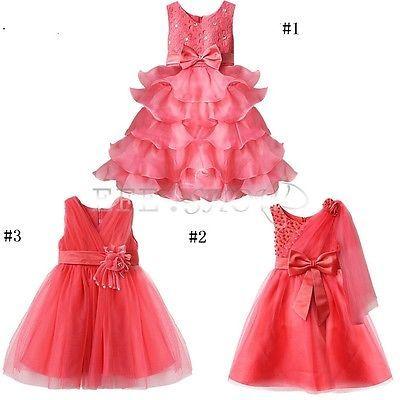 Enfant Fille Bébé Princesse Robe Tenue Soirée MARIAGE CEREMONIE BAPTEME 12M-10A in Vêtements, accessoires | eBay