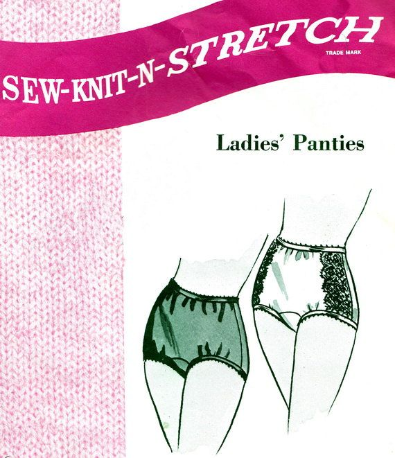 1960s Sew Knit N Stretch 202 Womens Briefs Panties by paneenjerez, $8.00
