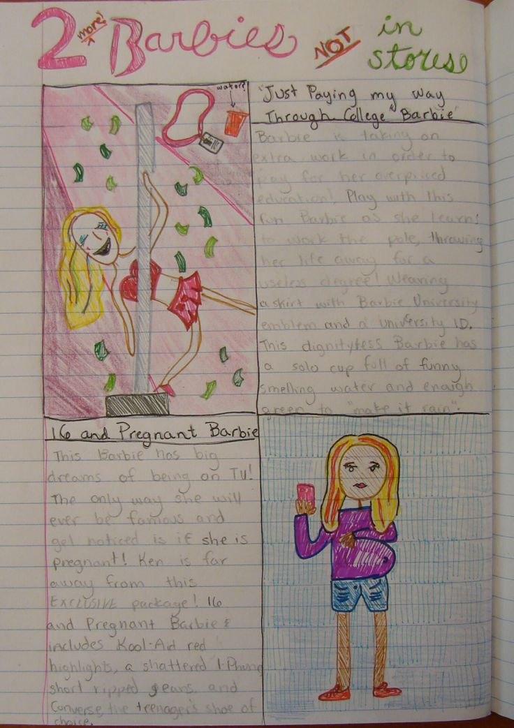 Since it didn't really use a stickman (or stick woman), I could only award 8th grader--Mimi--an 'honorable mention' this year for this sequel to her prize-winning Barbie-themed page she made as a sweet and much more innocent 6th grader: http://www.pinterest.com/pin/450852612665854241/  It's fascinating to me how their senses of humor become a bit racier as they mature.    I'll miss you next year, Mimi!  I truly will.