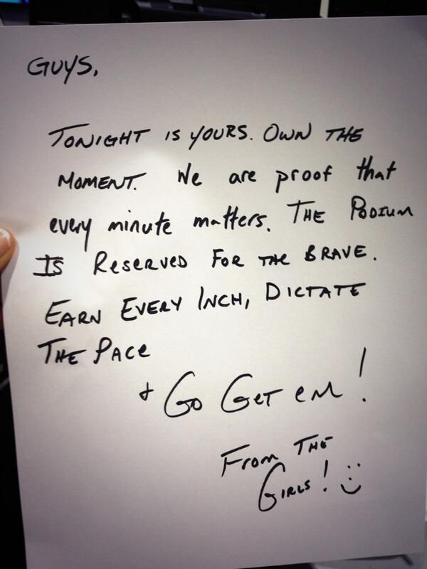 Note the Canadian girls hockey team left in dressing room of the men's team before the match vs USA.......