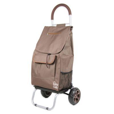Folding Trolley Dolly in Brown - BedBathandBeyond.com