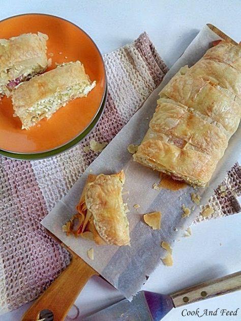 Στρούντελ με κολοκύθια/Zucchini Strudel | Cook And Feed
