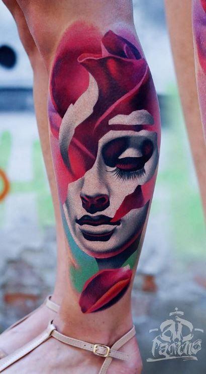 Best 25 mask tattoo ideas on pinterest weird tattoos - Wicked 3d tattoos ...