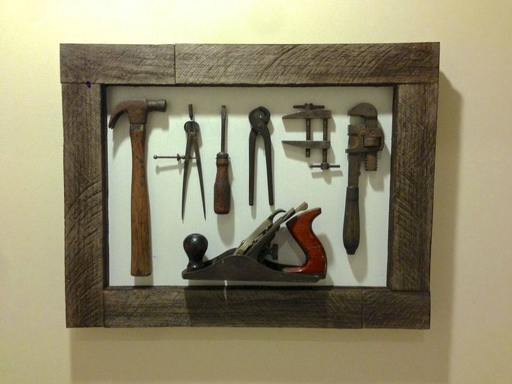 Old tool display- for my dads tools that my Mom gave my husband and son since he passed. :)