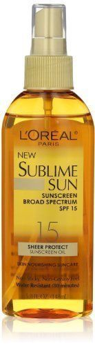 http://picxania.com/wp-content/uploads/2017/08/loreal-paris-sublime-sun-advanced-sunscreen-oil-spray-spf-15-5-0-ouncepack-of-3.jpg - http://picxania.com/loreal-paris-sublime-sun-advanced-sunscreen-oil-spray-spf-15-5-0-ouncepack-of-3/ - L'oreal Paris Sublime Sun Advanced Sunscreen Oil Spray SPF 15, 5.0 Ounce(pack of 3) -  Price:    5.0 oz Spray bottle  Sponsored Links     (adsbygoogle = window.adsbygoogle || []).push();