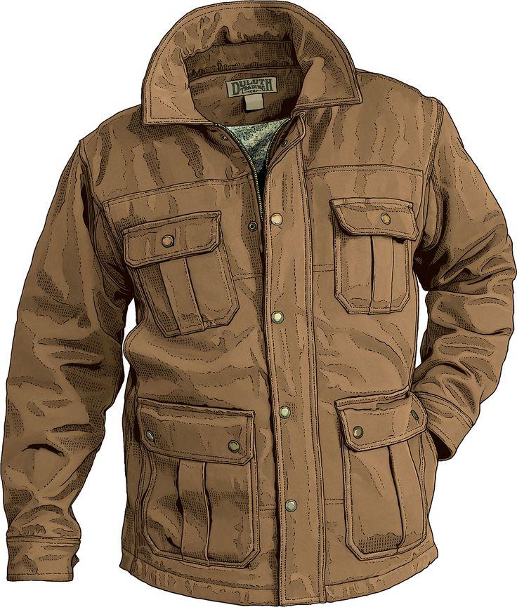 Men's Fire House Iron Range Winter Coat Duluth Trading Company