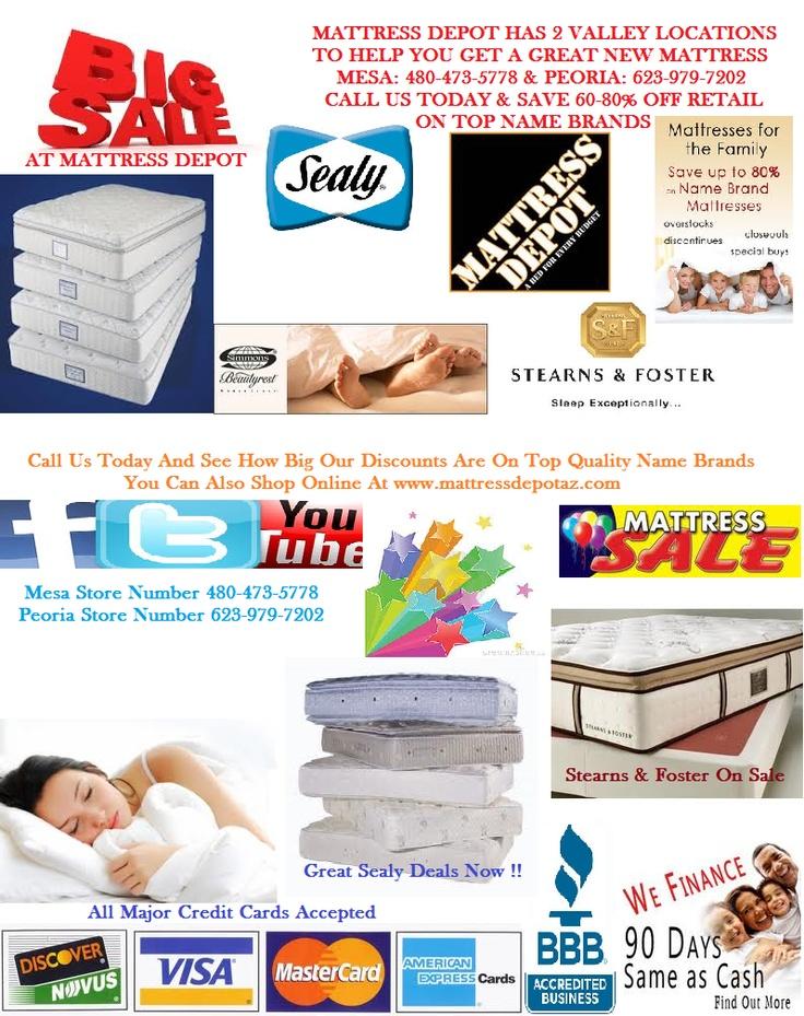 17 Best images about Mattress Depot AZ discount bed sales