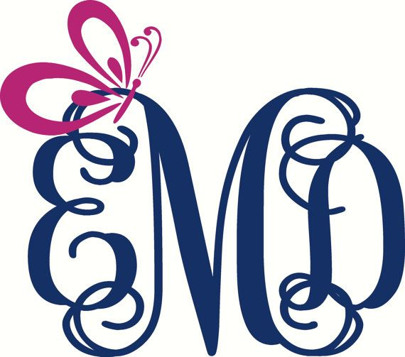 Monogram Car Decal Butterfly Car Decal Car Monogram Decal