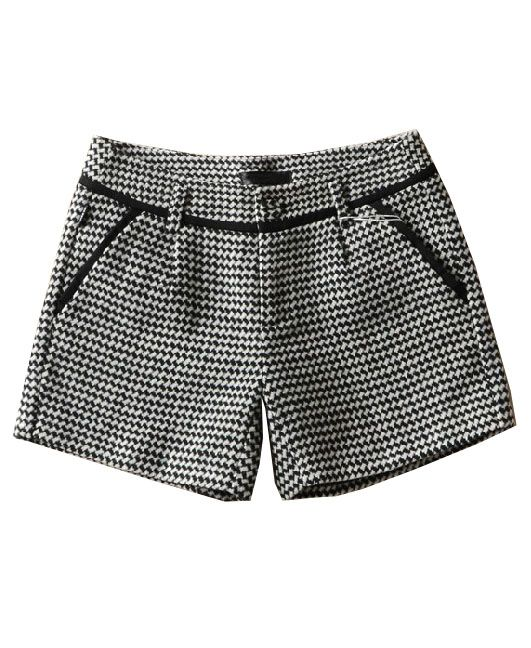 #CHICNOVA Houndstooth Mid-rise Waist Shorts