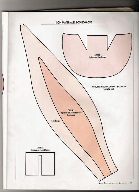 Moldes de conejo nariz dientes y orejas manualidades for Moldes para pavimentos de hormigon