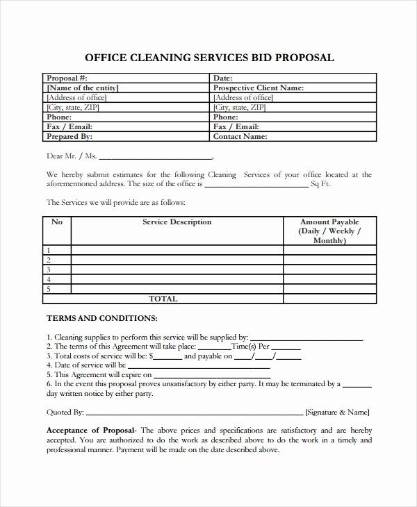 Business Proposal Template For Cleaning Services Cleaning Proposal