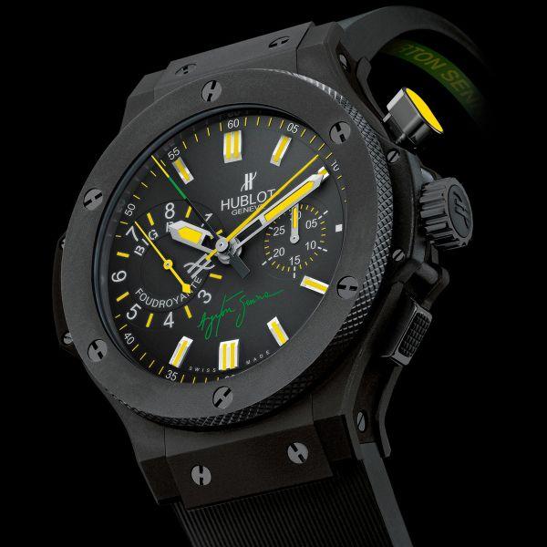 La Cote des Montres : Prix du neuf et tarif de la montre Hublot - Big Bang - 44mm Céramique Noire - Ayrton Senna Foudroyante - 315.CI.1129.RX.AES09