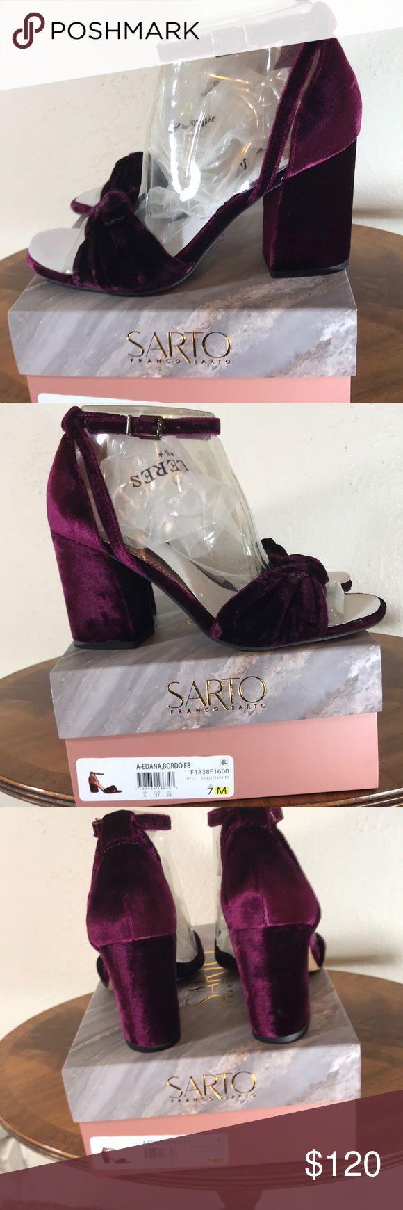 Anthropologie A-Edana, Bordo. Franco Sarto Anthropologie A-Edana, Bordo high heels. Velvet plum. Heel length 3 1/4. By Franco Sarto. NWT. New in box. So cute! Anthropologie Shoes Heels