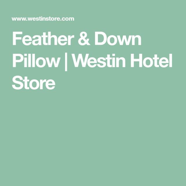 Feather & Down Pillow | Westin Hotel Store