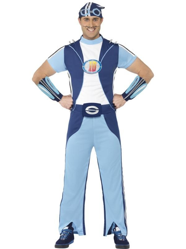 $40 Adult Mens Lazy Town Sportacus Licensed Cartoon Smiffys Fancy Dress Costume - M