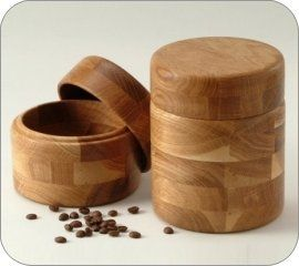 Ona | Products : Oak Wooden Canisters Kitchen Home Accents