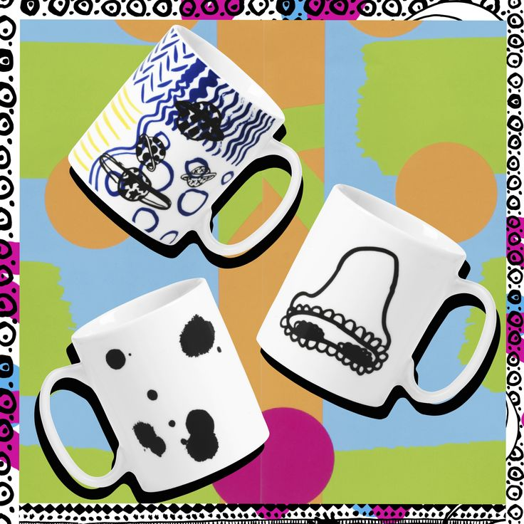 SPRIDD mug. Assorted patterns #Dontthinkdance #Kitneale #furnishwithfashion #SPRIDDcollection #IKEAcollections