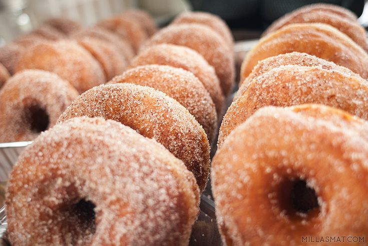 Amerikanske doughnuts med ekte vanilje   Millas Mat