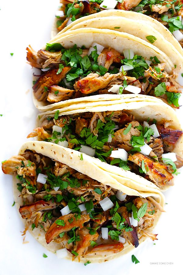 Crispy Slow Cooker Carnitas -- This favorite Mexican pork recipe is surprisingly easy to make in the crock pot, and it's perfectly tender, juicy, crispy, and SO delicious! Perfect for tacos, burritos, salads and more. | gimmesomeoven.com  http://homeexchange.xyz