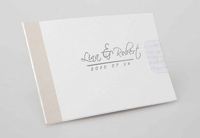 Our wedding invitations - A 7-page booklet